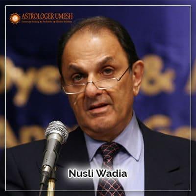 Nusli Wadia Horoscope Analysis