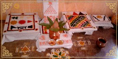 Completion of Puja Chowki AstrologerUmesh