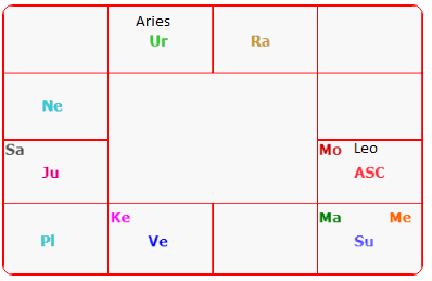 South Style Birth Chart